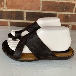BOC black leather thong sandals